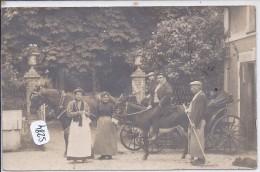 PARIS IX--CARTE-PHOTO- BELLE PROPRIETE SISE 86 RUE D AMSTERDAM- ATTELAGE DE CHEVAL ET MONTE D ANE - Arrondissement: 09