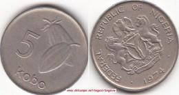 NIGERIA 5 Kobo 1974 KM#9.1 - Used - Nigeria