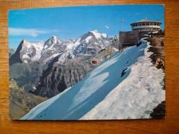 """Schilthornbahn Mürren Piz Gloria , Gipfelstation Mit Drehrestaurant , ü. M Eiger , Mönch Und Jungfrau """""""" Carte Animée """""""" - BE Berne"""