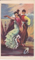 POSTAL DE UNA SEVILLANA BAILANDO (SEVILLA-BAILE-ANDALUCIA) PETENERAS-RONDA (PABLO DÜMMATZEN) - Bailes