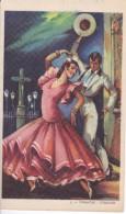 POSTAL DE UNA SEVILLANA BAILANDO (SEVILLA-BAILE-ANDALUCIA) TARANTAS-CORDOBA (PABLO DÜMMATZEN) - Bailes