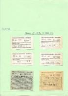 TICKETS BILLETS TRANSPORT BATEAU DAMRAK AMSTERDAM PAYS BAS 1961 - Billets D'embarquement De Bateau
