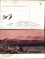 166539,Abend A. Toten Meer Künstler Ak Sign F. Perlberg - Israel