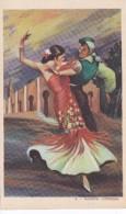 POSTAL DE UNA SEVILLANA BAILANDO (SEVILLA-BAILE-ANDALUCIA) TARANTA-CORDOBA (PABLO DÜMMATZEN) - Bailes