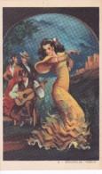 POSTAL DE UNA SEVILLANA BAILANDO (SEVILLA-BAILE-ANDALUCIA) SEGUIDILLAS-HUELVA (PABLO DÜMMATZEN) - Bailes
