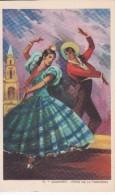 POSTAL DE UNA SEVILLANA BAILANDO (SEVILLA-BAILE-ANDALUCIA) SOLEARES-JEREZ DE LA FRONTERA (PABLO DÜMMATZEN) - Bailes