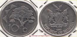 NAMIBIA 10 Cents 1993 KM#2 - Used - Namibia