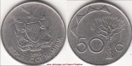 NAMIBIA 50 Cents 1993 KM#3 - Used - Namibia