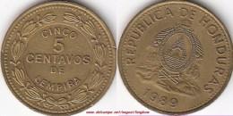HONDURAS 5 Centavos  1989 KM#72.2a - Used - Honduras