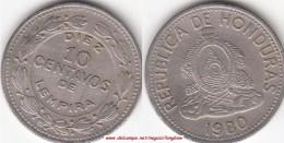 HONDURAS 10 Centavos 1980 KM#76.2 - Used - Honduras