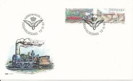 Denmark FDC 12-6-1997 Complete Set Railroad Copenhagen - Roskilde With Nice Cachet Locomotive - Trains