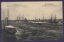 6561 Russia St. Petersburg View Of The Neva Near The Nicholas Bridge Ships - Russia