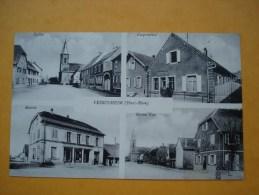 68 - FESSENHEIM - Multivues, Coopérative, Mairie, Grand Rue, Eglise - Fessenheim