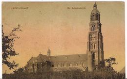 LEPELSTRAAT Bij Halsteren St. Antoniuskerk TULP Kaart Ca 1908 Zegel 1 Cent R 861 - Pays-Bas