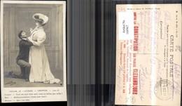 168967,Theatre De L Athenee Chiffon Jacques Suzy Acte III Mann A. Knie V. Frau - Ansichtskarten