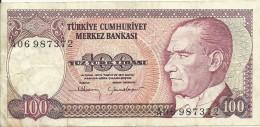 Turkey ; 1983 100 Turkish Liras Serial A - Turchia