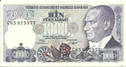 Turkey ; 1986 1000 Turkish Liras Serial C - Turchia