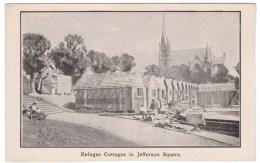 San Francisco California, 1906 Earthquake Ruins, Refugee Cottages Jefferson Square, C1900s Vintage Postcard - San Francisco
