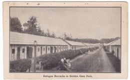 San Francisco California, 1906 Earthquake Ruins, Golden Gate Park Refugee Barracks C1900s Vintage Postcard - San Francisco