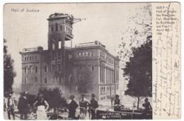 San Francisco California, 1906 Earthquake Ruins, Hall Of Justice Ruins,  C1900s Vintage Postcard - San Francisco