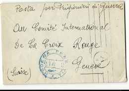 WW2 - Italy/Italie. Modena Pour Le CICR (croix Rouge / Red Cross) De Geneve. 1944 - Italy