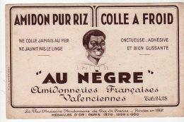 Jui16    75602  Buvard Au Nègre  Amidonneries   Valenciennes - Produits Ménagers