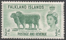 Falkland Islands. 1955-57 QEII. ½d MH. SG 187 - Falkland Islands