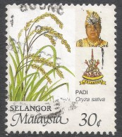 Selangor(Malaysia). 1986 Agricultural Products. 30c Used. SG 182 - Malaysia (1964-...)