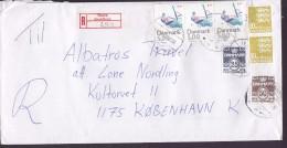 Denmark Registered Einschreiben Label THURØ (Svendborg) 1995 Cover Brief 3-Stripe Sport Sailing - Dänemark