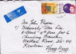 Netherlands LUCHTPOST Par Avion Label 's-GRAVENHAGE 1992 Cover Brief KOWLOON Hong Kong Europa CEPT Columbus Teddy Bear - Cartas