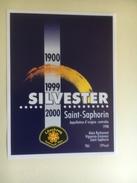 1208 - Suisse Vaud  St-Saphorin  1998 Silvester 1999 2000 Löschzug Feuerwehr Thun  St-Silvestre Servie Du Feu Thoune - Etiquettes