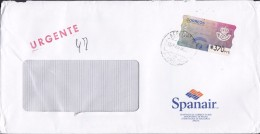 Spain SPAINAIR AEROPUERTO Palma MALLORCA 1996 Cover Letra Denmark ATM / Frama Label URGENTE (2 Scans) - Poststempel - Freistempel