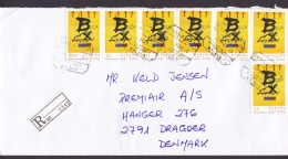Spain PREMIAIR Registered Certificado Label AEROPUERTO MALAGA 1999 Cover Letra Denmark 6-Stripe & Single - 1931-Heute: 2. Rep. - ... Juan Carlos I