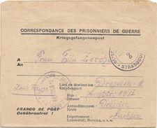 WW2 - Prisonnier De Guerre Allemand - Lager N°105 De Strasbourg (pour Dresden). 1947 - Marcophilie (Lettres)