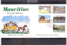 """FDC Mauritius - Port Louis """"Old & New""""  - Série Complète (à Voir) - Maurice (1968-...)"""