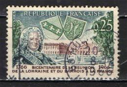 FRANCIA - 1965 - BICENTENARIO DELL´ANNESSIONE DELLA LORENA E BARRIOS - USATO - Oblitérés