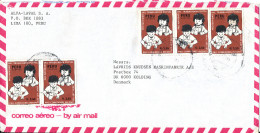 Peru Air Mail Cover Sent To Denmark - Peru