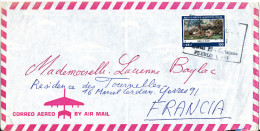 Peru Air Mail Cover Sent France Single Franked (the Cover Is Bended) - Peru