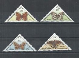 2001- Tunisia- Tunisie- Butterflies- Papillons- Complete Set 4v.MNH - Butterflies