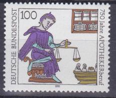 Timbre-poste Neuf** - 750ème Anniversaire De La Profession De Pharmacien (apothicaire) - N° 1322 (Yvert) - RFA 1991 - [7] République Fédérale