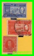 VENEZUELA  ( AMERICA ) 3 SELLOS   AÑO 1958 - Venezuela