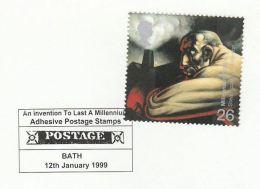 1999 BATH GB COVER EVENT Pmk MILLENIUM ADHESIVE POSTAGE STAMPS INVENTION Steam Power Energy - Filatelia & Monete