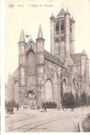 Gent-Gand-1910-St-Niklaaskerk-Eglise St Nicolas-Attelage-animée-Oblitération De Moortzeele-Ed. STAR-Héliotypie De Graeve - Gent