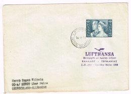 Greece FFC Cover Scott #615 Lufthansa Athens 14 V 1959 To Germany B/S Hamburg 14.5.1959 Fine - Storia Postale