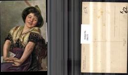 186175,Künstler AK Paul Wagner Tiroler Volkstrachten Tracht Trachten Frau M. Hut Port - Costumi