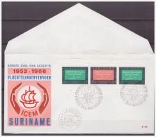 Surinam / Suriname 1966 FDC 42-1M ICEM Refugees Transportation S/S - Surinam ... - 1975
