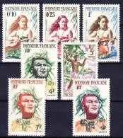 POLYNESIE FRANCAISE 1958-60 YT N° 1, 2, 3, 5, 6, 7 Et 8 ** - Polinesia Francesa