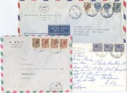 1963/1969: SIRACUSANA PURA 2 BUSTE + 1 CARTOLINA PER USA E ARGENTINA OTTIMA QUALITÀ (A718) - 6. 1946-.. Repubblica