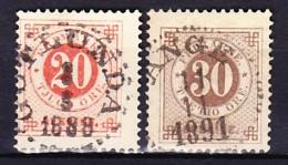 SUEDE 1886-99 YT N° 35 Et 36 Obl. - Oblitérés