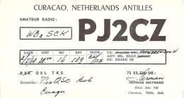 Amateur Radio QSL Card - PJ0CZ - Curacao, Netherland Antilles - 1968 - Radio Amateur